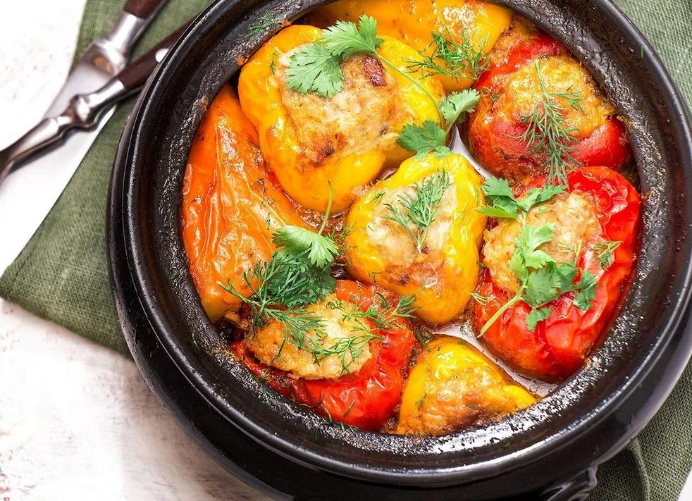Рецепт болгарского перца с куриным фаршем